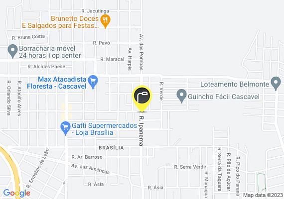 Mapa Na Rua Ipanema localizada no bairro Verdes Campos, existem