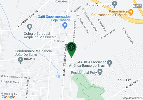 Mapa Mato alto novamente na rua visconde de guarapuava ao lado do