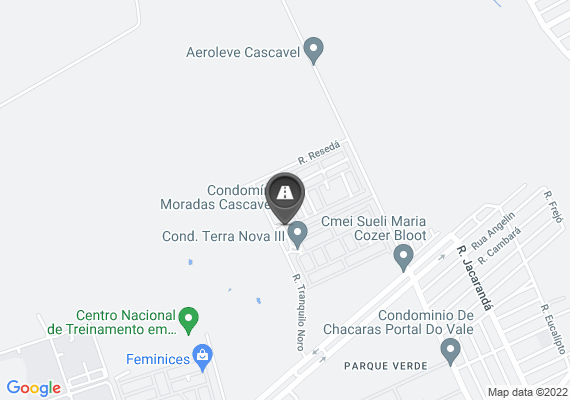 Mapa Buravo na rua