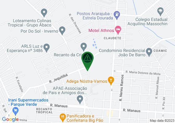 Mapa Lampada queimada na Rua São José em frente ao imóvel de