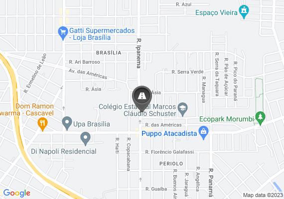 Mapa formando valeta esquina rua ipanema n 980 em frente ,com