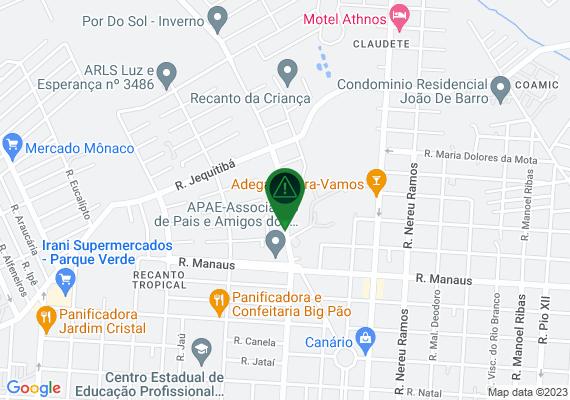 Mapa Na avenida Guaíra tem varias lâmpadas q não acendem,em