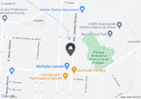 Mapa Buraco Quase esquina com a Rua Salgado Filho