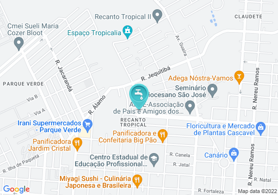 Mapa Nos dias de chuva a Rua Fagundes Varela esta ficando