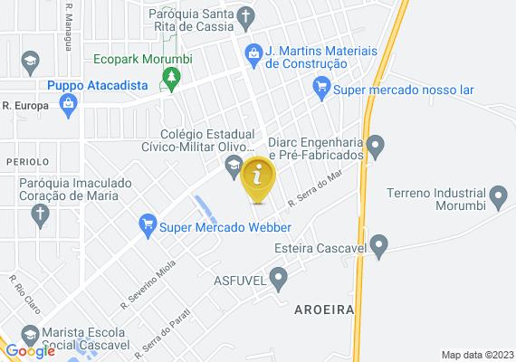 Mapa Rua da gavea 1024 sem iluminaçao escuridão total
