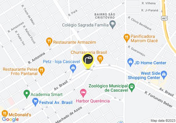 Mapa Luzes queimadas na Praça infantil.  Diversos postes