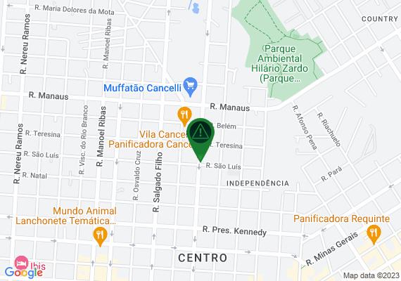 Mapa Em um imóvel na Rua Marechal Cândido Rondon, esquina com