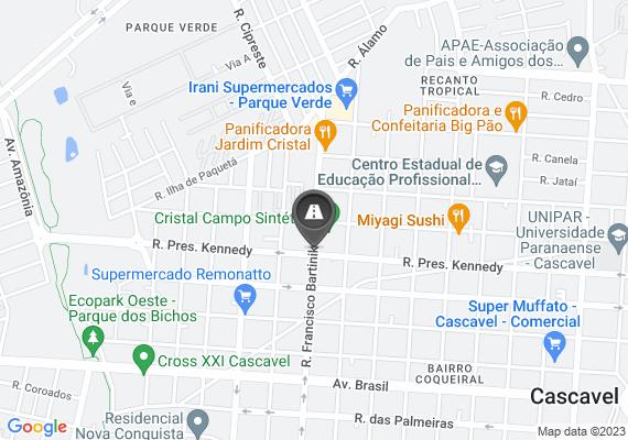 Mapa Recentemente foi realizado uma reforma nos cruzamentos da