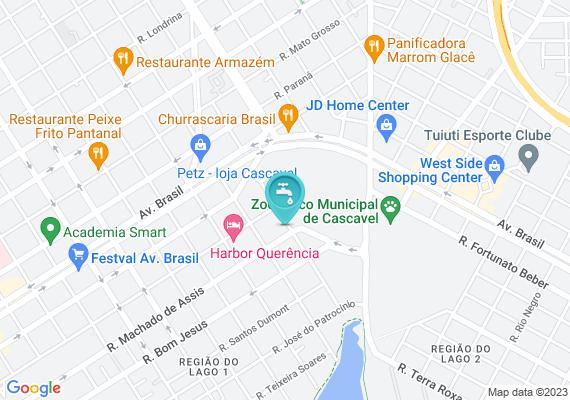 Mapa Na rua Machado de Assis com a rua Siqueira Campo tem uma