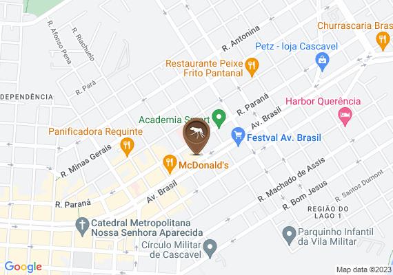Mapa A caixa d'agua da empresa Portobello está aberta