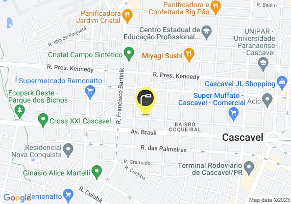 Mapa Lâmpada queimada, rua Paraná 5906