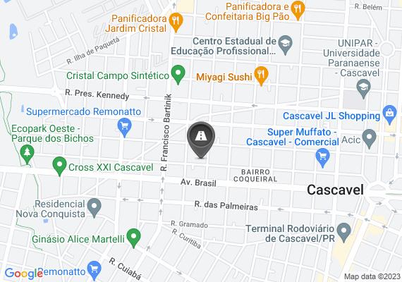 Mapa Buracos na rua Paraná,  5906 Com risco de acidentes de