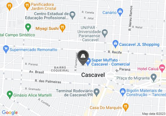 Mapa Dois buracos na pavimentação pública, um esta muito