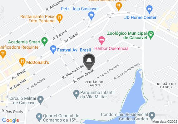 Mapa Vários buracos grandes na Rua Bom Jesus na esquina com a