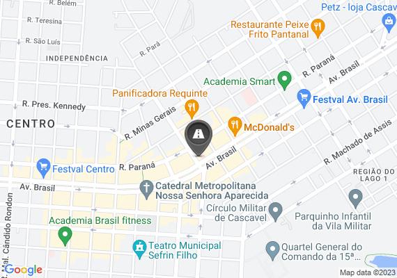 Mapa Problema no paver do estacionamento localizado no meio da