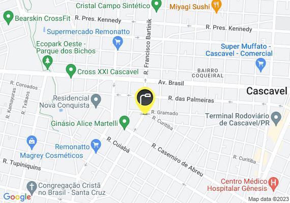 Mapa Dois postes da rua Selvino Casagrande estão com as