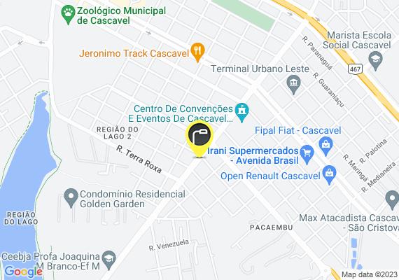 Mapa As lampadas dos super postes da Av. Rocha Pombo estão