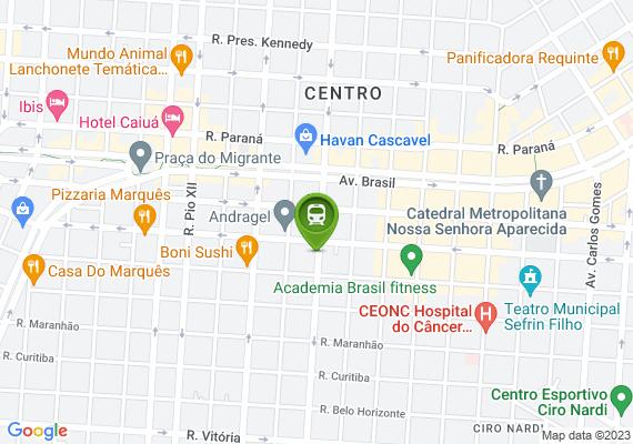 Mapa Ponto na rua marechal candido rondon com a são paulo, não