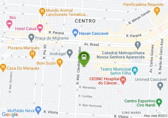 Mapa Sinalização referente ao estacionamento incompatível com