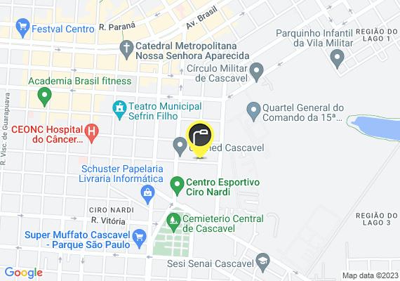 Mapa 3 postes aqui atraz do Complexo Esportivo Ciro Nardi ocilam