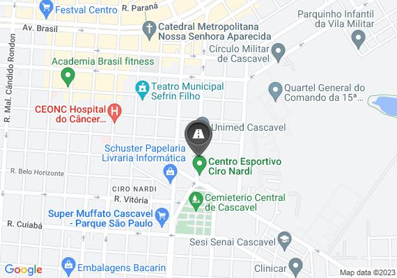 Mapa Ao lado do complexo esportivo Ciro Nardi existe um ponto de