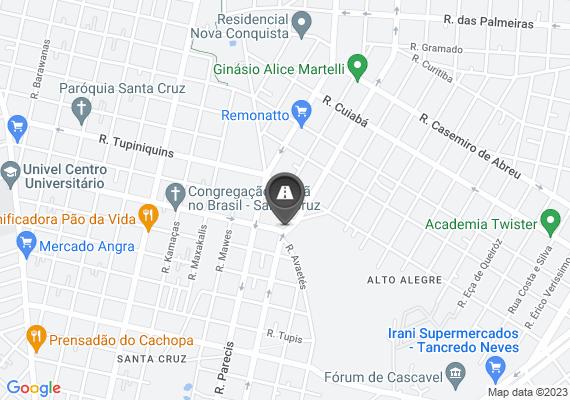 Mapa Asfalto da baixada da rua potiguara no bairro santo onofre