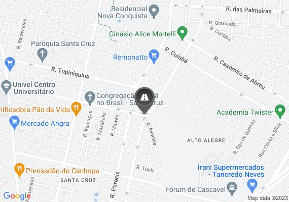 Mapa Na baixada da rua potiguara próx. ao número 1867 no santo