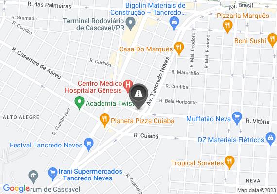 Mapa Buraco na Rua Vitória esquina com Tancredo neves(entre as