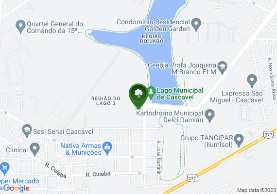 Mapa Mato alto no lago municipal de Cascavel