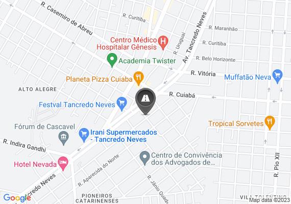 Mapa Buracos profundos no asfalto com risco de acidente e bueiro