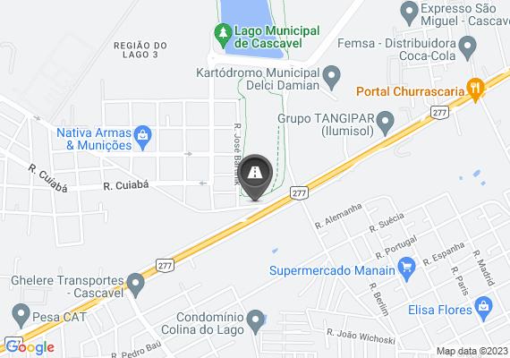 Mapa Rua Cezário Bazaki, quase impossível transitar de tantos