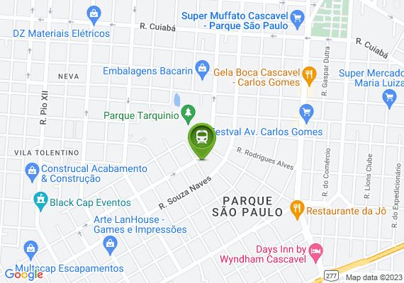 Mapa Além de não ter espaço pra andar sem ser na rua. Tem uma