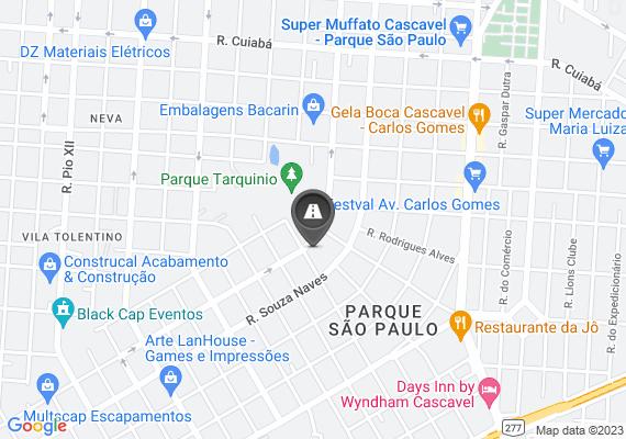 Mapa Na rua wenceslau Braz entre a Carlos de carvalho e Souza