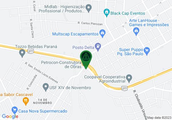 Mapa Nesse local pessoal tá depositando lixo cabeceira córrego