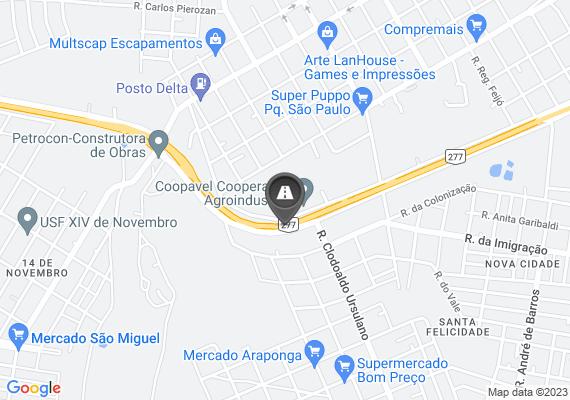 Mapa Buraco muito grande que vem causando problemas no trânsito