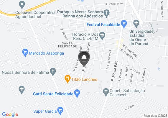 Mapa Muitos buracos ao longo da Rua Andre de Barros, necessário