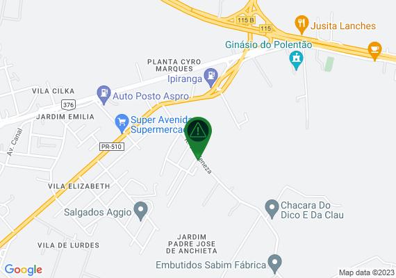Mapa O Jardim Itália está demandando a atenção do Setor de