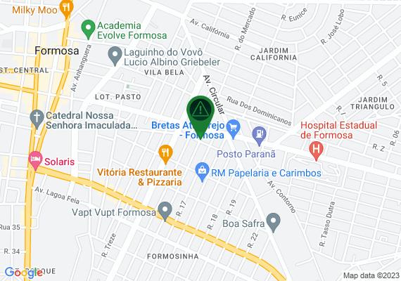 Mapa As ruas 1 e 16 do bairro formosinha estão precisando de