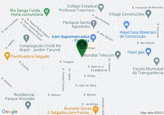 Mapa A aproximadamente um mês atrás as máquinas da prefeitura