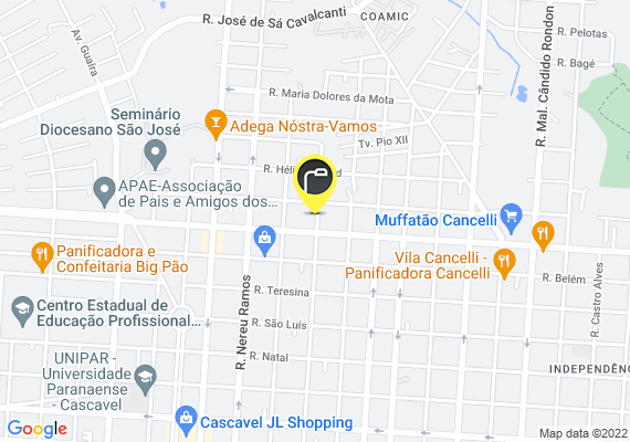 Mapa Lâmpada poste queimada rua marechal floriano frente 4215