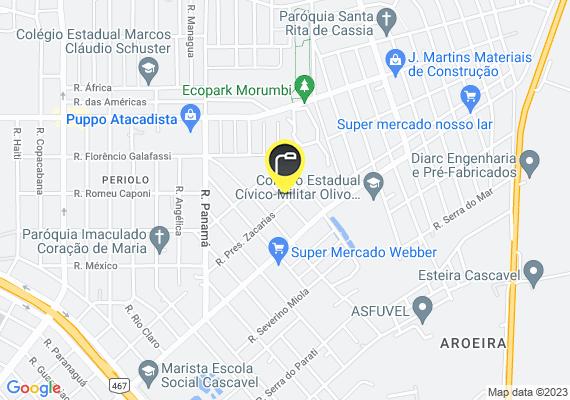 Mapa Lampada Queimada no poste em frente a casa numero 274 da Rua