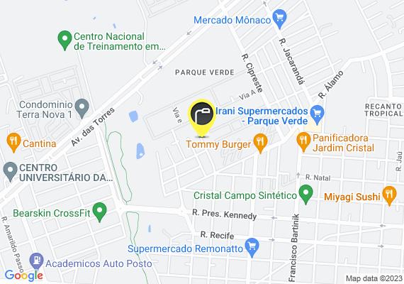 Mapa O posto que fica de frente para a casa da rua otelo