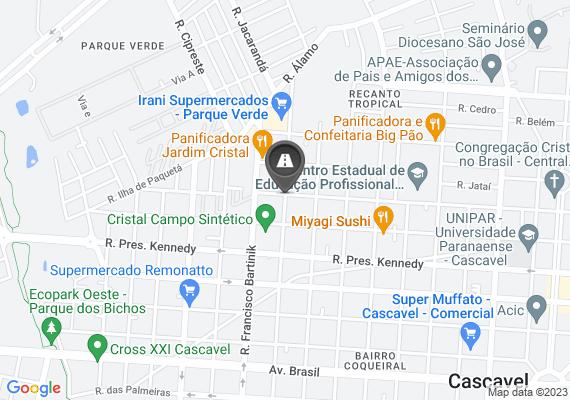 Mapa Buraco na rua