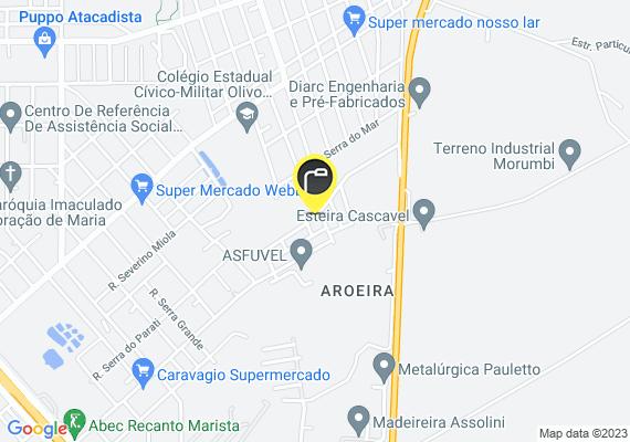 Mapa Aqui no loteamento sarah elisah localizado no morumbi a