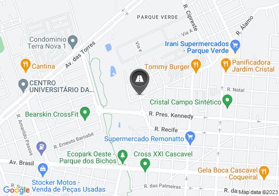 Mapa Buraco na rua, no qual a cadabchuva o mesmo esta aumentando.