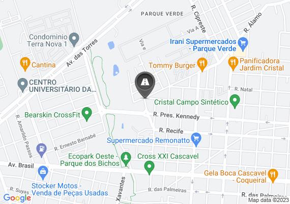 Mapa Rua esburacada.