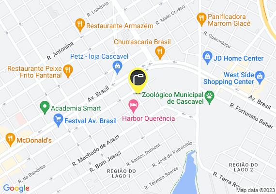 Mapa Lâmpada queimada do poste em frente à Rua Tiradentes, 757