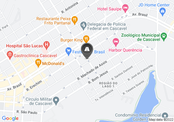 Mapa Falta de sinalização nas esquinas da Rua da bandeira X rua