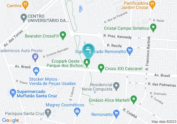 Mapa Esgoto cru transborda no final da rua Paraná.