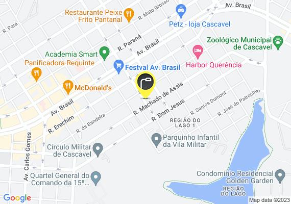 Mapa Iluminação publica, postes da rua todos com iluminação